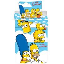 Dětské bavlněné povlečení Simpsons Family clouds, 140 x 200 cm, 70 x 90 cm