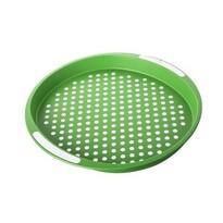 Banquet tác zelený puntík kulatý