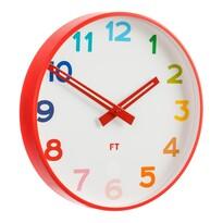 Ceas de perete Future Time FT5010RD Rainbow red, pentru copii, de design, diam. 30 cm