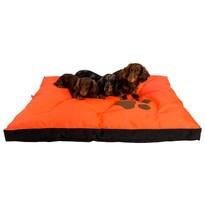 Matrace Boseň oranžová s tlapou, 120 x 100 x 10 cm