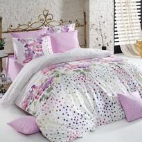 Sara pamut ágyneműhuzat, lila, 140 x 200 cm, 70 x 90 cm