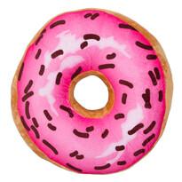 Poduszka Donut różowy, 34 cm