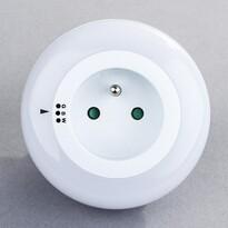 Solight nocne LED światełko z gniazdkiem przelotow3 barvy světla, senzor