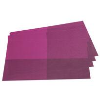Podkładki na stół DeLuxe, fioletowy, 30 x 45 cm, zestaw 4 szt.