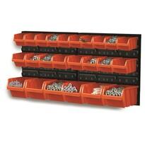 Tabuľa s úložnými boxmi 24 ks