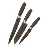 Banquet 3dílná sada nožů s nepřilnavým povrchem  Premium Dark Brown