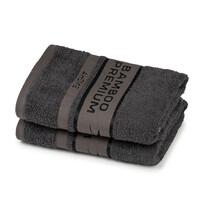 4Home Bamboo Premium ręczniki ciemnoszary, 50 x 100 cm, 2 szt.