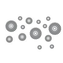 Samolepiaca dekorácia kruhy