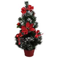 Vianočný stromček s poinsettiou Rojo červená, 50 cm