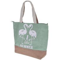 Geantă de plajă Flamingo, verde