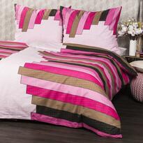 Stripe Pink pamut ágyneműhuzat, 140 x 200 cm, 70 x 90 cm