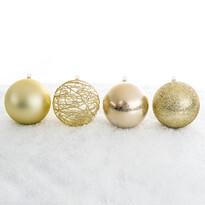Vánoční koule mix pr. 10 cm, zlatá