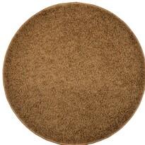Kusový koberec Elite Shaggy hnědá, priemer 120 cm