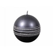 Lumânare Lumina Silver glob, negru