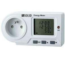 Solight Digitálny meriač spotreby el.energie biely