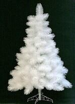 Vánoční stromeček borovice douglas 185 cm, bílá