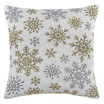 Față de periniță Snowflakes albă, 40 x 40 cm