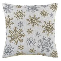 Obliečka na vankúšik Snowflakes biela, 40 x 40 cm